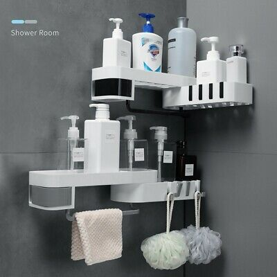 AU23.88 • Buy Shower Caddy Corner Storage Shelf Holder Rack Organiser Bathroom Adhesive AU