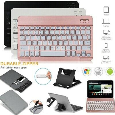 Bluetooth Keyboard+Bag+Stand For Samsung Galaxy Tab A/E/S4/S5e 9.7-10.5  Tablet • 22.99£