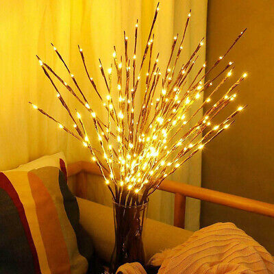 LED Fairy Lights With Flowers Effect Decorative Twig Branch Home Lighting Top-FY • 4.95£