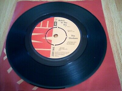 Riders In The Sky By The Shadows On 7  Inch Vinyl Single Record 1980  Vgc • 2.99£