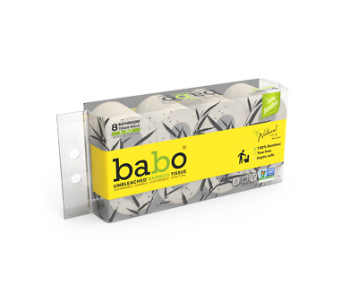 AU10.49 • Buy Babo100% Bamboo Toilet Paper - 8 Rolls Unbleached/ Chemical-free/ Ultra Soft