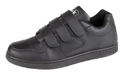 Mens Wide Fitting Trainers Black Touch Fastening 6 - 12 • 14.90£