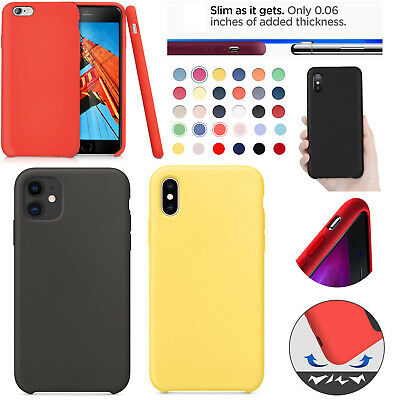 For Apple Silicone Case IPhone 11 X XR XS MAX 8 7 & Plus Slim TPU Soft Rubber UK • 2.89£