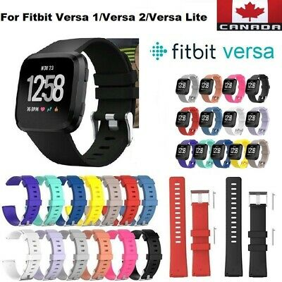 $ CDN10.99 • Buy Replacement Silicone Wrist Band Strap For Fitbit Versa 2/ Versa 1 / Versa Lite