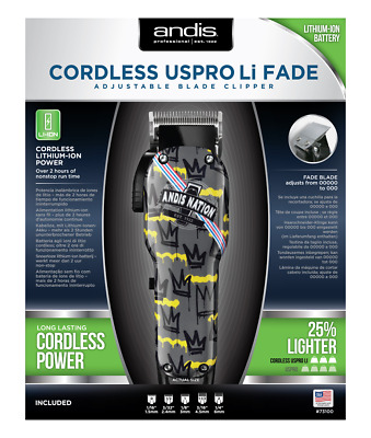 Andis Professional Cordless Uspro Li Fade (andis Crown Nation) Clipper • 99.99£