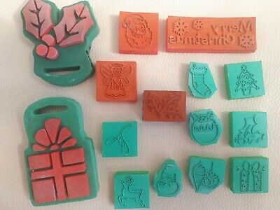 Thirteen Foam Stamps Assorted Christmas And Varying Sizes  • 4£