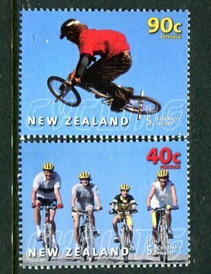 AU3.50 • Buy 2001 New Zealand - Children's Health/Cycling MUH Set Of 2 Stamps