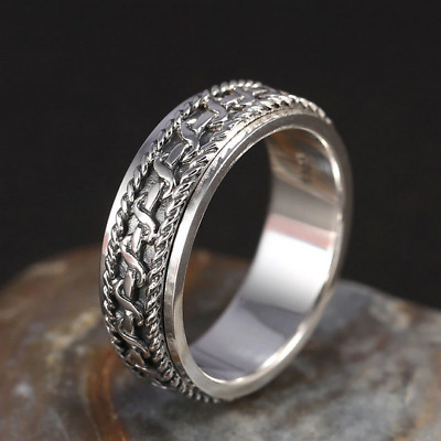 925 Sterling Silver For Men And Women Spinning Thailand Silver Joint Ring • 25.97£