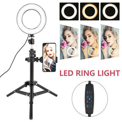 AU48.99 • Buy 50/160cm Dimmable Diva LED Ring Light Tripod Stand Selfie Circle Lamp Make Up AU