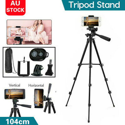 AU18.19 • Buy Professional Camera Tripod Stand Mount + Phone Holder For Phone IPhone Samsung
