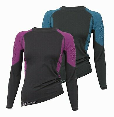 Womens Base Layer Long Sleeve Shirt Stretch Cold Protector Sweat Free Breathable • 16.95£