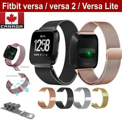 $ CDN9.99 • Buy For Fitbit Versa 2 Lite Band Stainless Magnetic Smart Watch Wrist Strap (S-L)