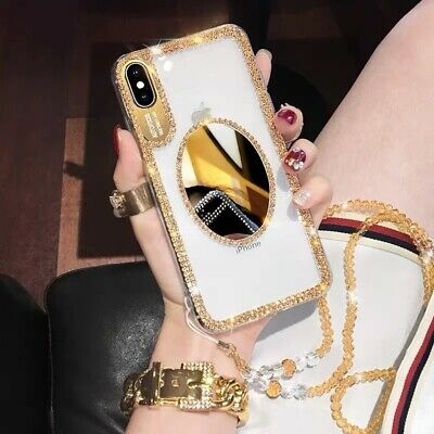 Luxury 3D Bling Mirror Rhinestone Clear Phone Cases Cover For IPhone Samsung • 4.99£