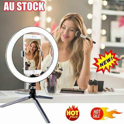 AU39.88 • Buy 10  Phone Selfie LED Ring Light Stand Dimmable For Makeup Video Shooting MM