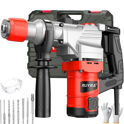 View Details RUYIKA HEAVY DUTY 2000W Electric Rotary Jack Hammer Drill Breaker SDS Chisel Set • 69.99£