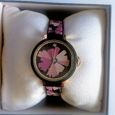 $ CDN111.66 • Buy Kate Spade Pink & Black Floral Silicone Watch ~ New/NWT Ksw1582 Park Row