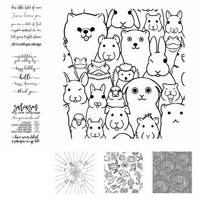 £2.49 • Buy Animals Group Greetings Clear Rubber Stamps Stamping Embossing DIY Album Crafts
