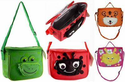 Kids Thermal Insulated Lunch Bag Cool Bag Picnic Lunch Box Strap Handbag UK • 6.99£