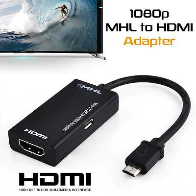 AU13.99 • Buy Universal MHL Micro USB To HDMI Cable 1080P HD TV Adapter For Android Phones