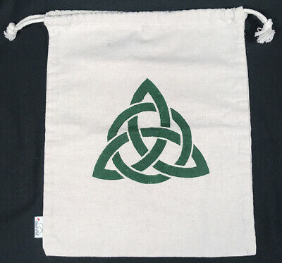 $5.98 • Buy Celtic Knot Irish Dance Canvas Drawstring Bag 11x13 SMALL FISH Brand