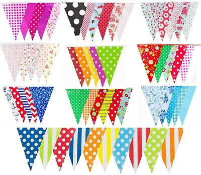 £4.99 • Buy BUNTING MULTI COLOUR 20 FLAGS 10m BANNER PARTY VINTAGE GARDEN CHIC DECORATION