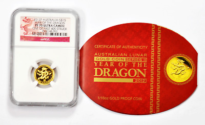 $349.99 • Buy 2012 P $15 Australia Gold Dragon NGC PF70 Ultra Cameo 1st 400 Struck FS 1/10th.