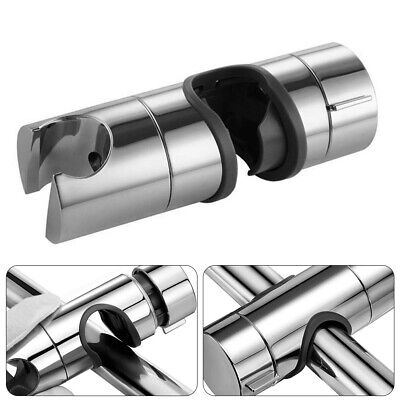 Chrome Shower Rail Head Slider Holder Adjustable 19-25mm Universal Bracket UK • 4.99£