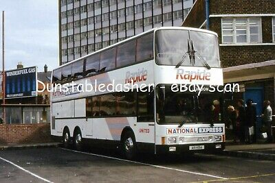 35mm BUS SLIDE: NATIONAL EXPRESS UNITED MCW METROLINER 150 @ NEWCASTLE • 3.99£