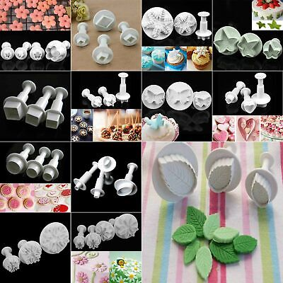 Fondant Cake Cutter Plunger Xmas Cookie Mold Sugarcraft Flower Decorating Mould • 1.88£