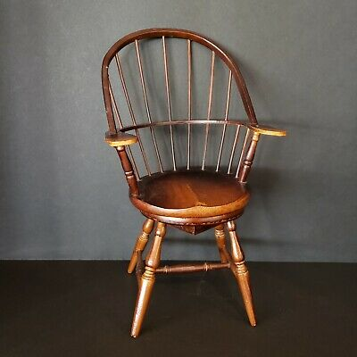 $19.99 • Buy Vintage Windsor Spindle Wooden Rotating Doll Chair Music Box - Plays Fur Elise