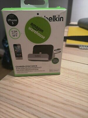 BELKIN Charge And Sync Dock IPhone All Models 5 & Above, IPod Touch Nano Boxed • 24.99£