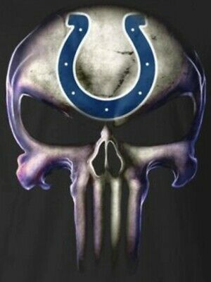 $4 • Buy 2 Indianapolis Colts Waterproof Vinyl Punisher Skull Stickers Car Decals 5x3.8