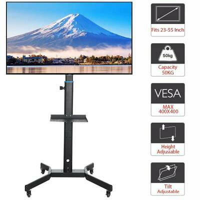 £44.99 • Buy Portable Mobile 23 -55  /LCD/LED TV Cart Floor Stand Mount Home Display Trolley