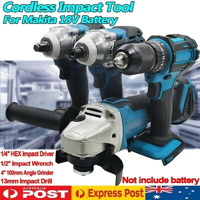 AU57.99 • Buy Cordless Tool Impact Driver Drill Wrench Grinder For Makita 18V Li-ion Battery