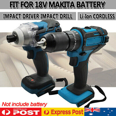 AU99.99 • Buy Cordless Drill + Impact Driver Replace Body Combo Kit For Makita 18V Battery