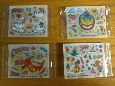 Kelloggs Cereal Trade Cards Rice Crispies Action Stickers Part-set 4 Of 6 Sealed • 2.99£