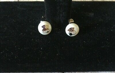 $14 • Buy Tous Stainless Steel Stud Pearl Earrings, New With Tags