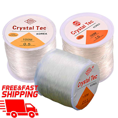 $ CDN7.10 • Buy 100m Transparent Elastic 0.5 1mm Strong Stretch Beading String Cord Wire Jewelry
