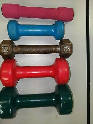 $ CDN46.12 • Buy Lot Of Five Dumbbells. 1,2,3,5,7 Lbs. Pre-owned.     K
