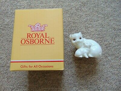 Royal Osborne Bone China Pair Of Pigs, Pig Ornament With Original Box TMR-5597 • 15£