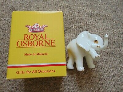Royal Osborne Bone China Elephant One Leg Up Malaysia TMR-3772 • 10£