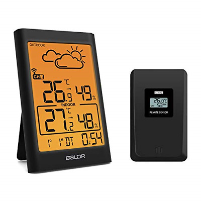 $38.32 • Buy Digital Indoor Outdoor Thermometer Wireless W Humidity Weather Station For Baby