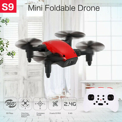 $20.88 • Buy S9 2.4G 4CH Mini Drone Headless Mode One Key Return Foldable RC Quadcopter G6C7