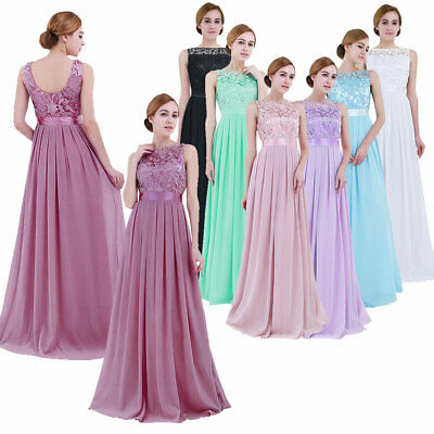 £26.99 • Buy Women's Ladies Chiffon Evening Formal Party Ball Gown Prom Bridesmaid Long Dress