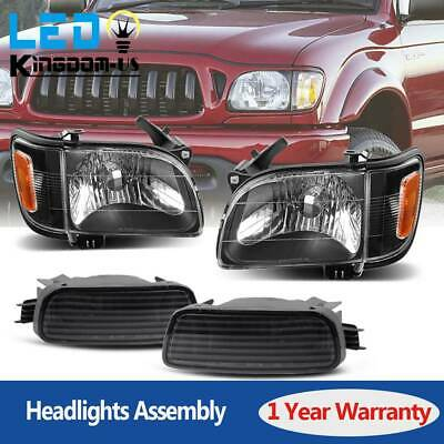 $78.50 • Buy For 2001-2004 Toyota Tacoma Headlights Headlamps Left+Right Lights Lamp Assembly