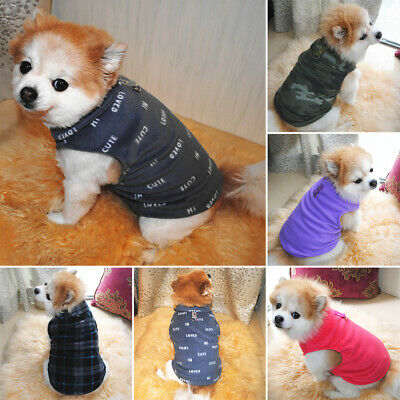 Warm Fleece Winter Dog Clothes Small Large Big Dogs Pet Coats Vest Jacket  • 3.08£