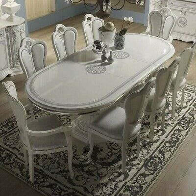 Beautiful New Greta Italian Living / Dining Room Collection White NEW  • 220£