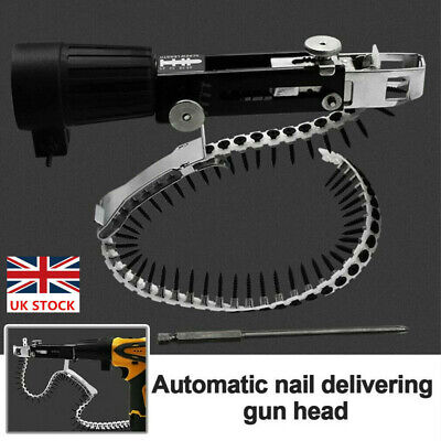 Automatic Screw Chain Nail Gun Adaptor For Electric Drill Plaster Board Drywall • 24.59£