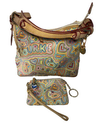 $169.99 • Buy Dooney & Bourke Vintage White Pop Novelty Lucy Hobo Bag With Wristlet