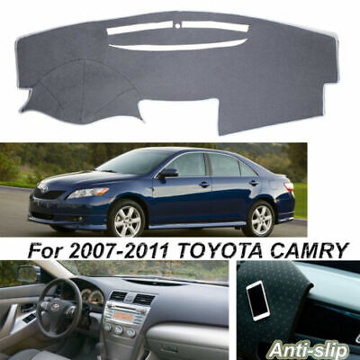 $19.59 • Buy Gray Dashboard Dashmat Cover Non-Slip Protect Carpet For Toyota Camry 2007-2011
